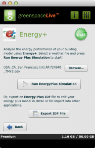 Energy+ in gModeller