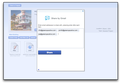 Share By Email Dialog in gWorkspace