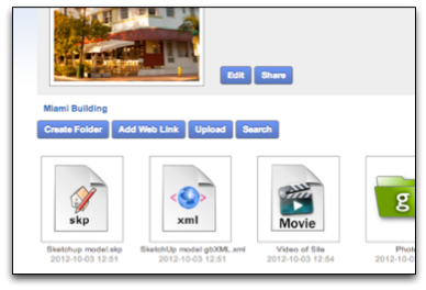 location of the gWorkspace Share Button