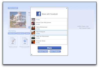 Share With Facebook in gWorkspace